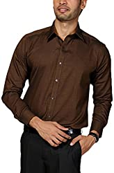 Provogue Men's Casual Shirt (8903522418396_103220-OR-460_Large_Copper)