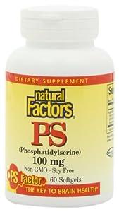 Natural Factors Phosphatidylserine 100mg Softgels, 60-Count