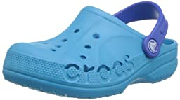 crocs 10190 Baya Clog (Infant/Toddler),Electric Blue/Sea Blue,2-4 M US Little Kid