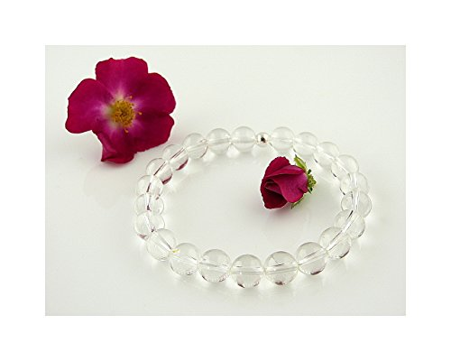 edelstein armband bergkristall klar 8 mm kugeln perlen heilsteinarmband stretcharmband. Black Bedroom Furniture Sets. Home Design Ideas