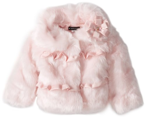 Best Price Kate Mack Baby-Girls Pretty Kitty Infant Faux Fur Jacket, Pink, 18 Months  Best Offer