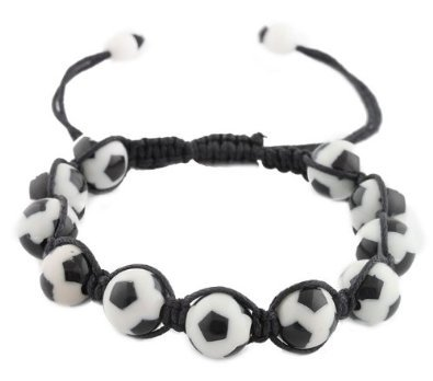 3 Pieces of Black  White Soccer Ball Style Shamballah