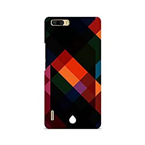 Motivatebox- Colorful Abstract Art Premium Printed Case For Huawei Honor 6 Plus -Matte Polycarbonate 3D Hard case Mobile Cell Phone Protective BACK CASE COVER. Hard Shockproof Scratch-