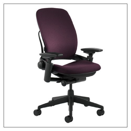 Steelcase Leap(R) Chair (v2) - Fabric, color = Eggplant; details = Black