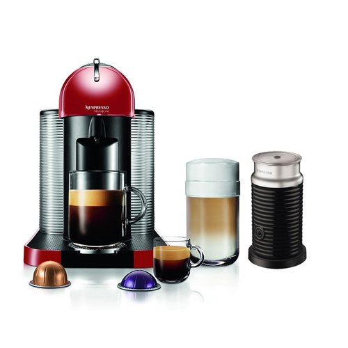 Nespresso VertuoLine Coffee Espresso Maker Machine w/ Milk Frother & 12 Capsules (Nespresso Vertuoline Frother compare prices)