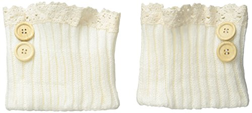 Steve Madden Women's Lace Tim Button Crochet Boot Cuff, Off White, 9-11 (Steve Madden Rain Boots For Women compare prices)