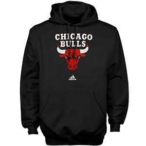 Chicago Bulls Black Pullover Hoodie Sweatshirt by Adidas by adidas