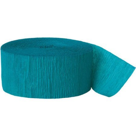 Party Streamers - Crepe Paper - 81 Feet - Multiple Colors (Teal) (Teal Paper Streamer compare prices)