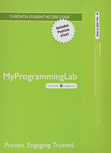 MyProgrammingLab with Pearson eText -- Access Card -- for Introduction to Programming with C++