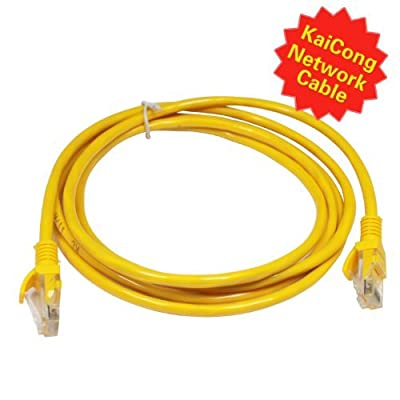 KaiCong KN118 Network Ethernet Cable Patch Cable 6 feet Surveillance and Security accessories high quality Network Cable Portable RJ45 Yellow