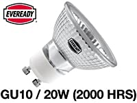 5x Eveready Dichroic GU10 Halogen Lamp 20w (40DEG BEAM) 240V by Eveready