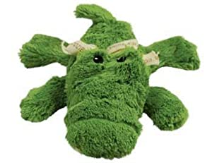 KONG Cozie Ali the Alligator Medium Dog Toy, Green