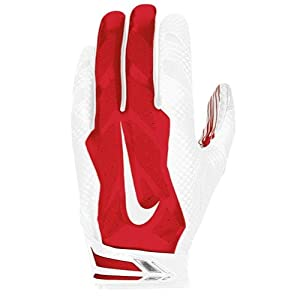 Nike Vapor Jet 3.0 Advanced Skill Position / Receiver Gloves, Red/White, XL