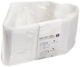 Janibell Polyethylene Biodegradable Waste Can Liner, Flat Seal