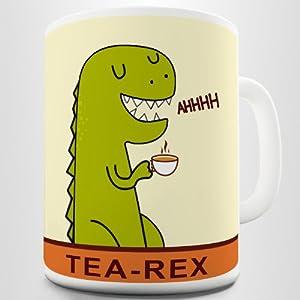 Tea-Rex Funny Dinosaur Print Coffee Mug