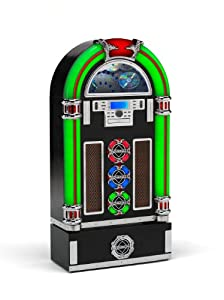 Encode Cd Rock Zero 50 Retro Jukebox/ Cd/ Mp3/ Usb/ Black With Base