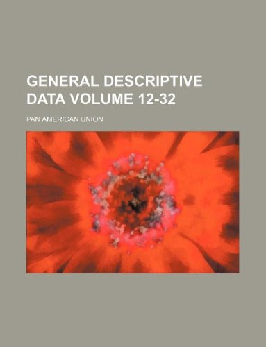 General descriptive data Volume 12-32