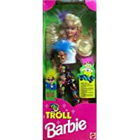 1992 Troll Barbie Doll With Mini Troll Doll By Mattel