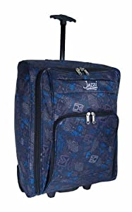 Womens And Mens And Girls Black Blue Patterned 21inches Holdall Size 55 X 40 X 20cm Wheeled Hand Cabin Flight Bag 21nch Suitable For Ryanair Easyjet Bmi Ba Virgin 55 X 40 X 20 Cm Due To Its Lightweight Construction And Sensible Size It Makes A Perfect Cab