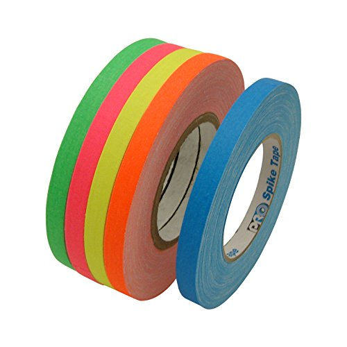 jvcc-gaff-color-pack-gaffers-tape-multi-pack-1-2-in-x-50-yds-5-rolls-pack-fluorescent-blue-fl-green-