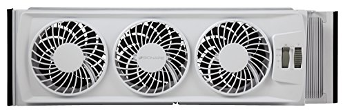 Bionaire BWF0502M-WM Thin Window Fan, White (Thin Window Air Conditioner compare prices)
