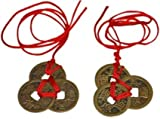 Chinese Feng Shui Coins for Wealth and Success - 2 sets of 3