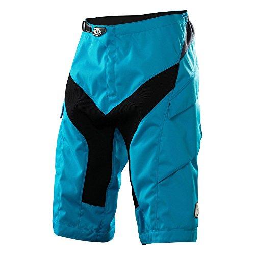 Troy Lee Designs, Pantaloni corti da ciclismo Uomo, Blu (Cyan), 32