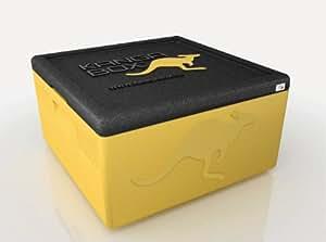 KÄNGABOX Easy M, EY2200LN lemon, innen Ø 42 cm, außen 480x480x265 mm, Inhalt 35 l. Thermobox für Pizza, Kuchen und Torten. Stabile, leichte, stapelbare Kühlbox. Für Catering, Konditorei und Lieferservice. Farbe gelb