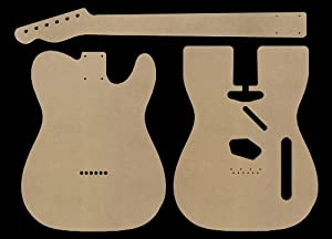Telecaster mdf guitar body and neck template for Bass guitar body templates
