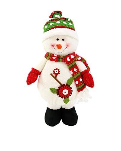 Figura Decorativa Muñeco De Nieve De Pie