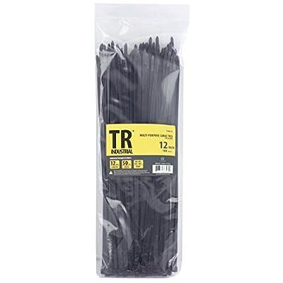 "TR Industrial TR88303 Multi-Purpose Cable Ties (100 Piece), 12"", Black by Capri Tools"