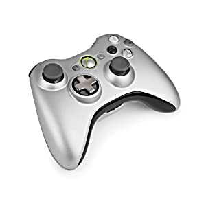 Xbox 360 Silver Controller and Play  Charge Kit