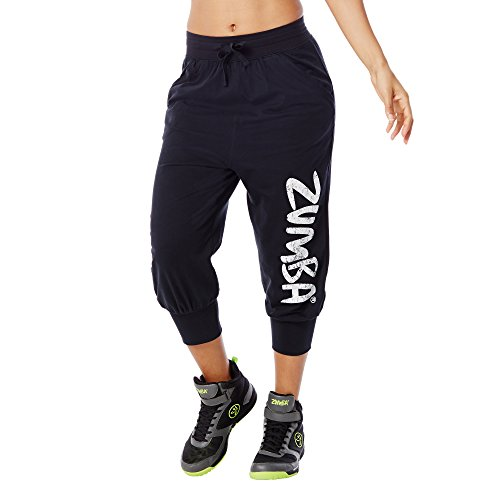 Zumba Fitness Women's Z Jersey Capri, Back to Black, Small