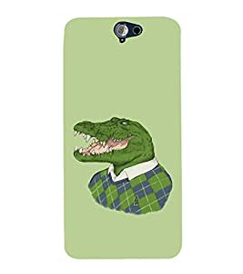 printtech Crocodile Face Sweater Back Case Cover for HTC One A9