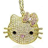 Newdigi® 8 Gb Hello Kitty Crystal Jewelry USB Flash Memory Drive Necklace
