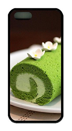 Icustomonline Green Tea Cake Rubber Shell Tpu Case For Iphone 5 5S