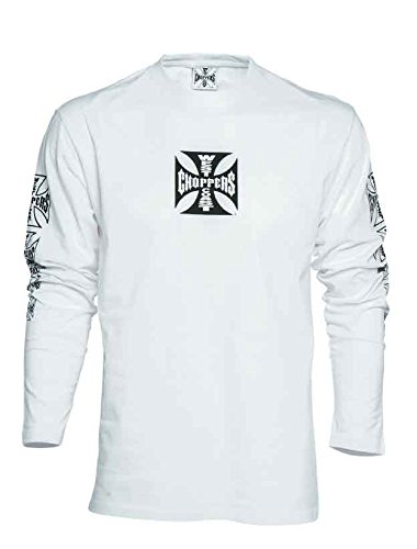 West Coast Choppers T-Shirt Longsleeve OG Cross, Color:white;Größe:XXL