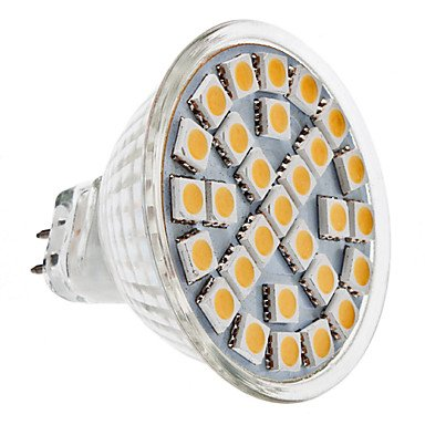Mr16 5W 29X5050 Smd 400-450Lm 3000-3500K Warm White Led Lamp Bulb (110-240V)