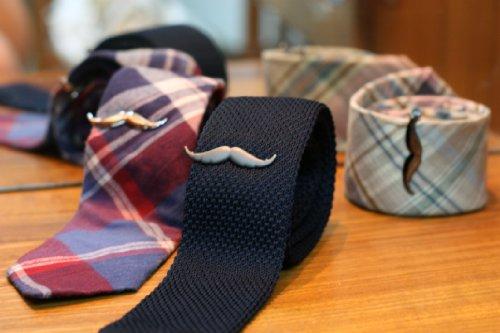 Moustache Tie Clip (Matte Gunmetal (Limited Edition))