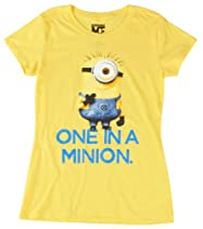Despicable Me One In A Minion T-Shirt Yellow XLarge