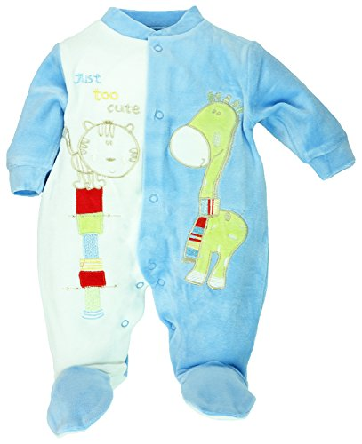Just too cute - Baby-Strampler, Schlafanzug aus Nicki, Giraffe