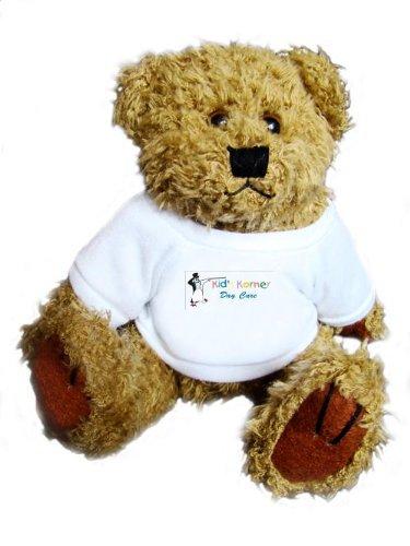 Teddybär mit einem T-Shirt mit der Grafik: Tagespflege