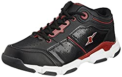 Sparx Mens Black and Red Running Shoes - 8 UK (SM-174)