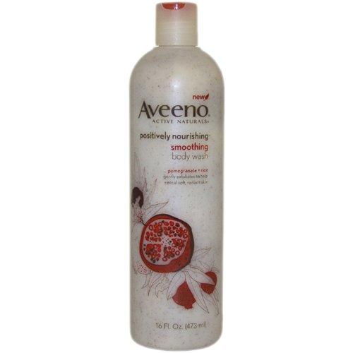 Imagen de Aveeno Aveeno positivamente Nourishing Smoothing Body Wash, granada + arroz, 16 onzas