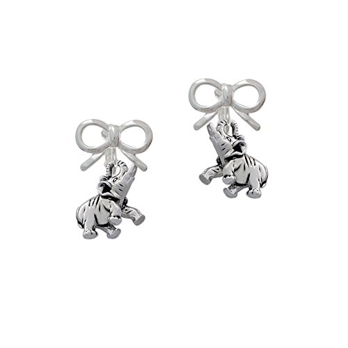 Elephant Clip On Earrings