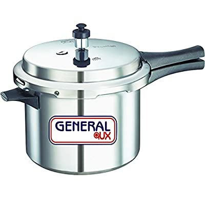 General AUX Global Pressure Cooker Induction Base Bottom Aluminium 5 Ltr