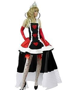 Yummy Bee Alice in Wonderland Costume Queen of Hearts STOCKINGS Crown Fancy Dress Womens Size 8 - 22 (Women: 10-12)