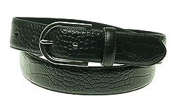 Lauren Ralph Lauren Lanesborough Croc Belt Black XL