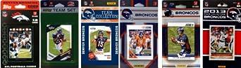 NFL Denver Broncos 6 Different Licensed Trading Card Team Sets by C&I Collectables