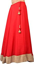 Ambitione Designer Women Red colored Skirt_S